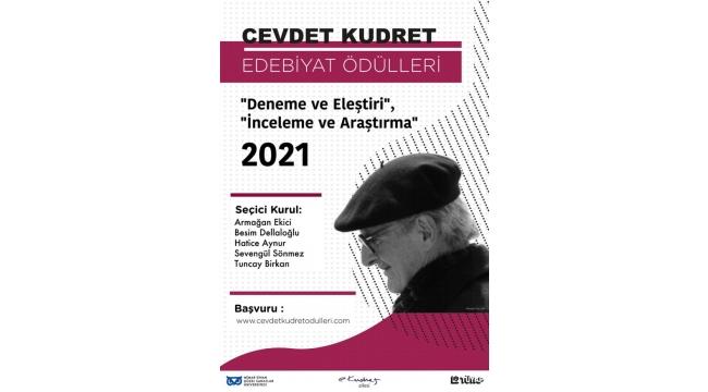 2021 Cevdet Kudret Edebiyat Ödülleri'ne başvurular başladı